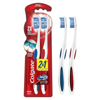 Escova de dente Colgate 360 Luminous White Leve 2 Pague 1