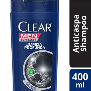 Shampoo Clear Men Limpeza Profunda 400ml