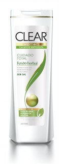 Shampoo Clear Fusão Herbal Cuidado Total 400ml