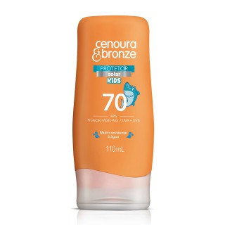 Bloqueador solar Cenoura & Bronze FPS-70 Kids 110ml