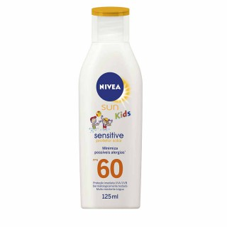 Bloqueador solar Nivea FPS-60 Kids Sensitive & Pure Loção 125ml