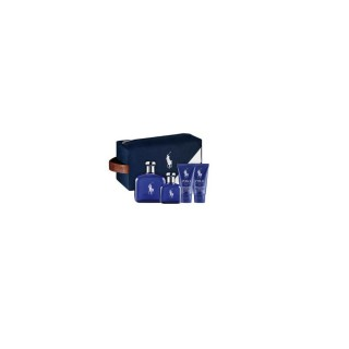 Kit Perfume Ralph Lauren Polo Blue 125ml + 40ml + Pós barba 50ml + Gel 50ml