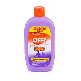 Repelente Off kids loção hidratante Leve 200 Pague 117ml