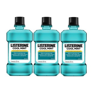 Kit Enxaguante bucal Listerine cool mint 250ml Leve 3 pague 2