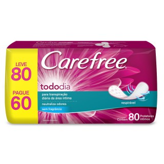Absorvente Carefree Todo dia Leve 80 Pague 60