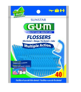 Mini Flosser Gum multiple action com 40 unidades