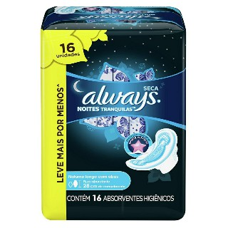 Absorvente Always Active Noturno com Abas Leve 16 pague 14