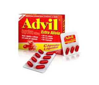 Advil 400mg com 8 cápsulas