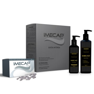 Kit Shampoo Imecap hair Queda intensa 300ml + Loção 100ml + 30 cápsulas