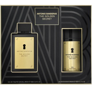 Kit Perfume Antonio Banderas Golden Secret 100ml Grátis Deo 150ml