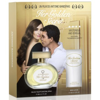 Kit Perfume Antonio Banderas Her Golden secret 80ml Grátis Body lotion 100ml
