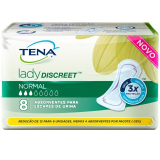 Absorvente Tena Lady Discreet normal com 8 unidades