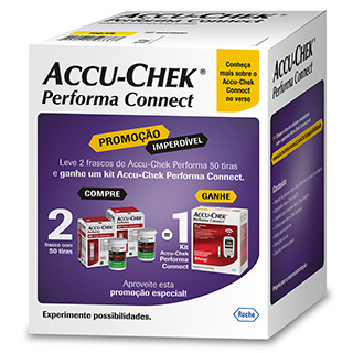 Kit Accu-Chek Performa com 50 Tiras 2 unidades Grátis Performa Connect kit