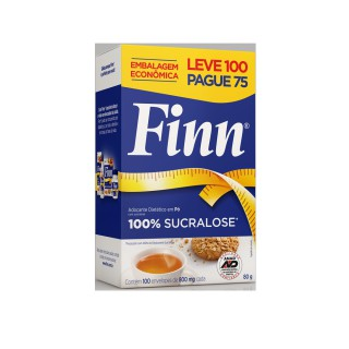 Adoçante Finn Sucralose Leve 100 pague 75 envelopes