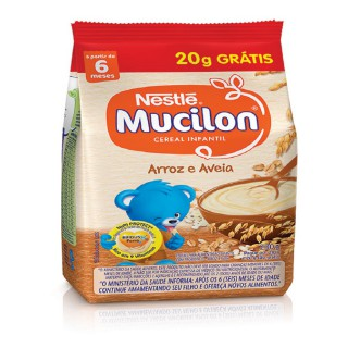 Mucilon Arroz e Aveia Leve 230g e Pague 200g