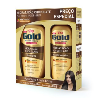 Kit Shampoo + Condicionador Niely Gold Chocolate 500ml