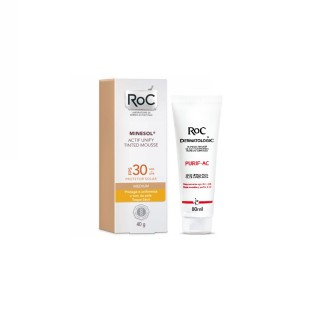 Kit Minesol Actif Tinted FPS-30 Mousse 40g Grátis Purific