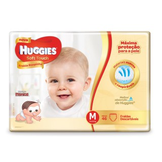 Fralda Huggies Soft Touch Mega