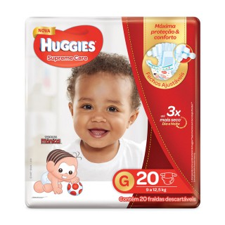 Fralda Huggies Supreme Care Jumbo