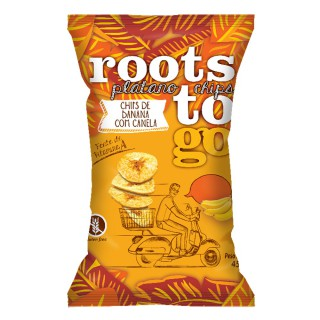 Chips Roots To Go doce com canela 45g