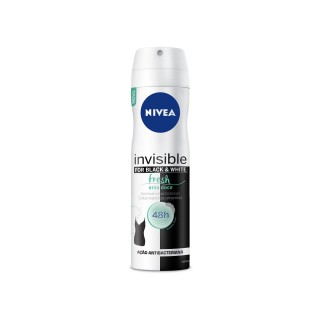 Desodorante Nivea aerosol Woman invisible black & white fresh 150ml