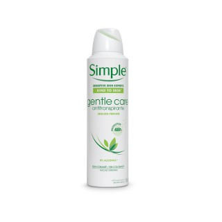 Desodorante Simple aerosol Gentle Care 150ml