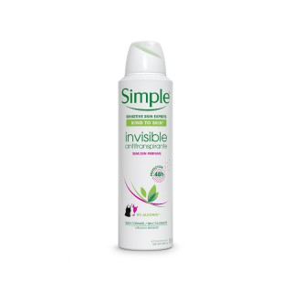 Desodorante Simple aerosol Invisible 150ml