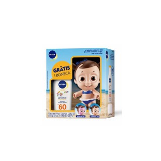 Bloqueador solar Nivea FPS-60 Kids Sensitive 125ml+Boneca