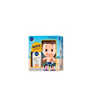 Bloqueador solar Nivea FPS-60 Kids Sensitive 125ml+Boneco