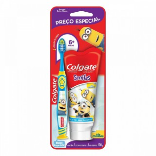 Escova de dente Colgate Smiles 6 anos+ Gel Dental 100ml
