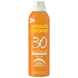 Protetor Solar Cenoura&Bronze FPS-30 Spray 200ml