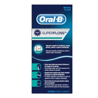 Fio dental Oral-B superfloss 50m