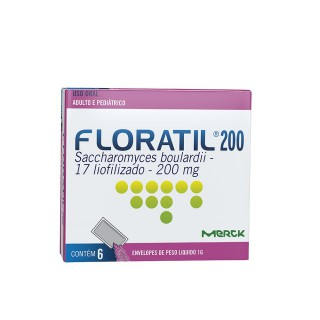 Floratil pediátrico 200mg pó 6 envelopes