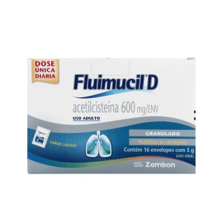 Fluimucil D granulado 600mg 16 envelopes x 5g