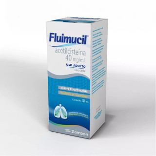 Fluimucil xarope adulto 40mg 120ml