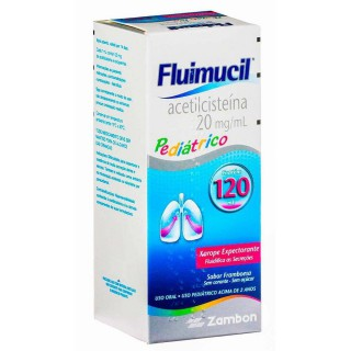 Fluimucil xarope pediátrico 20mg 120ml