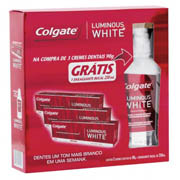 Kit Creme Dental Luminous White 3 Unidades