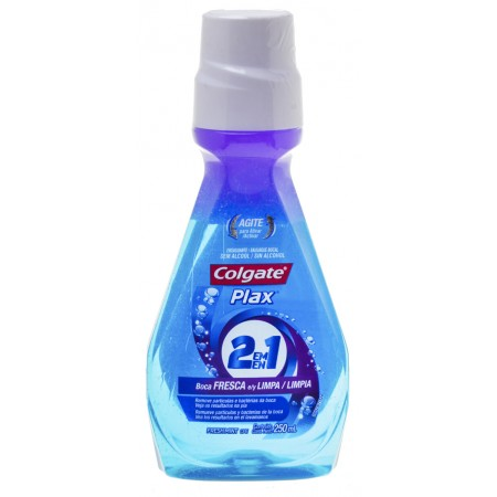 Plax Anti-Septico Bucal Colgate 2 em 1 250ml Fresh Mint