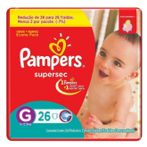 FRALDA PAMPERS BASIC SUPERSEC ECON G 26UN