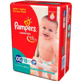 FRALDA PAMPERS BASIC SUPERSEC ECON XXG 18UN