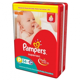 FRALDA PAMPERS BASIC SUPERSEC ECON P 34UN