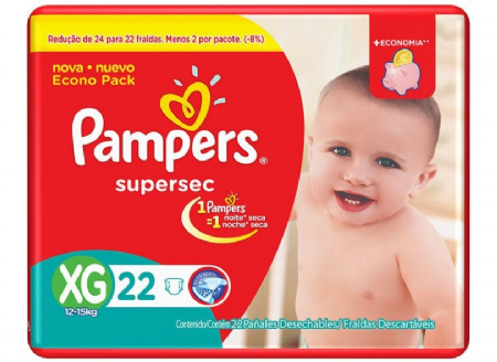 FRALDA PAMPERS BASIC SUPERSEC ECON XG 22UN