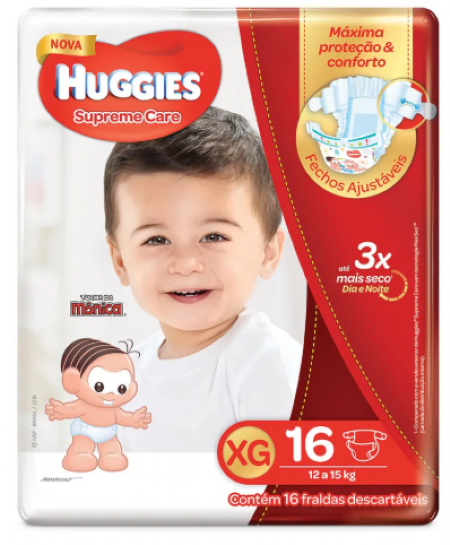 FRALDA HUGGIES SUPREME CARE XG